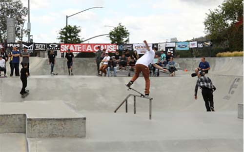Greg Lutzka taking home the Red Bull Tech Center Best Trick Contest.